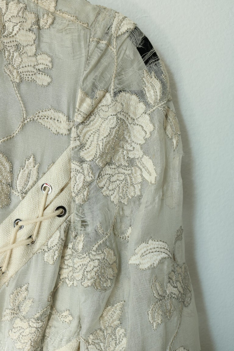 Zimmermann Eyelet Trimmed Gown  In Fair Condition For Sale In Los Angeles, CA