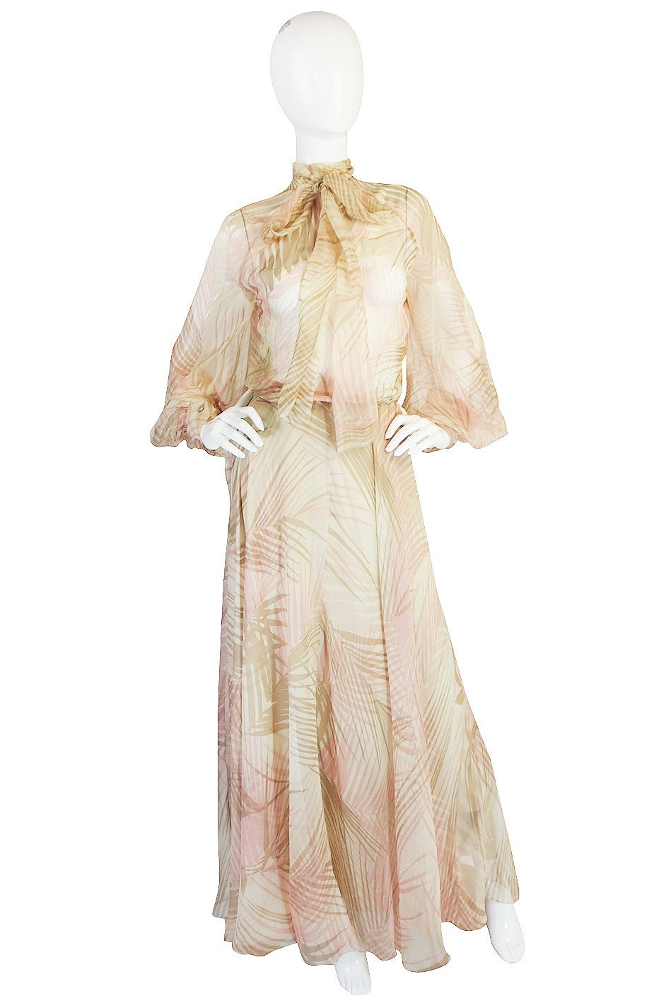 s s 1974 christian dior haute couture silk gown for sale
