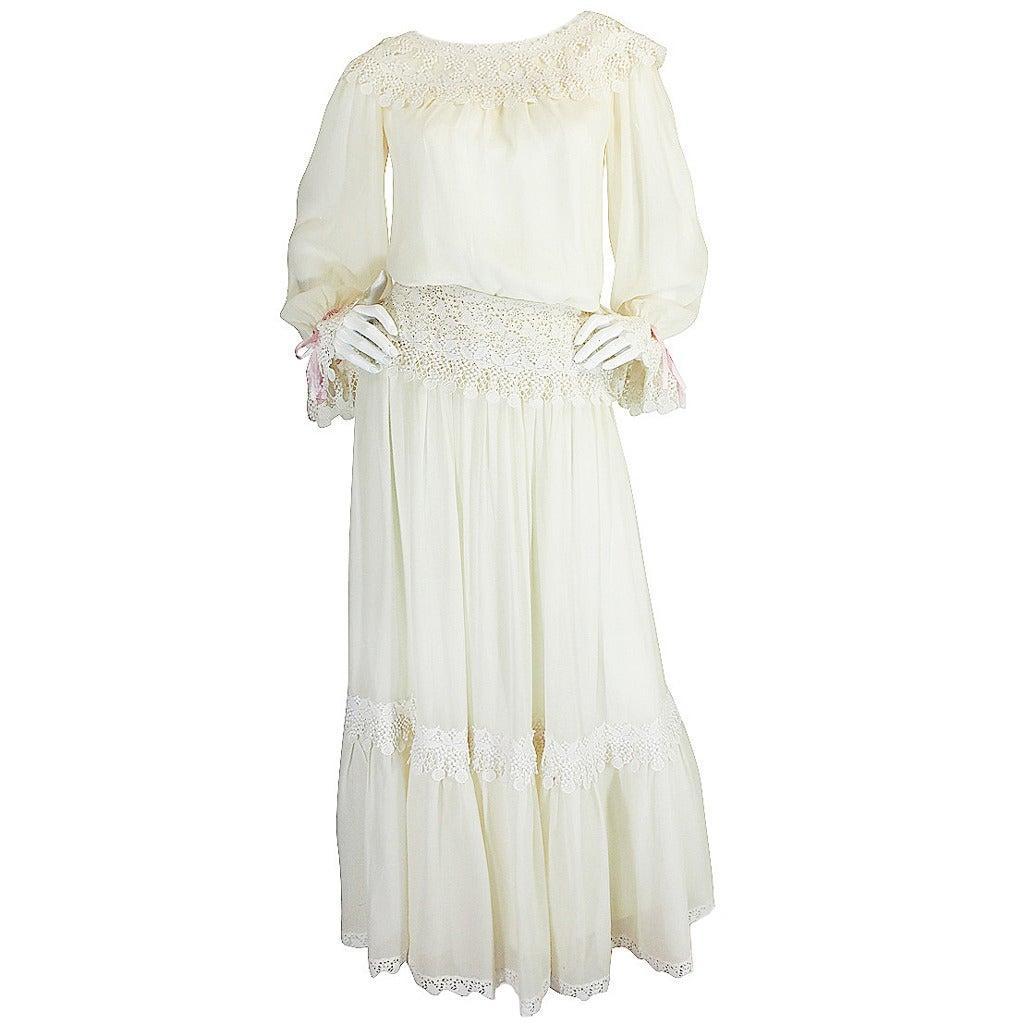 1977 Yves Saint Laurent Haute Couture Museum Piece