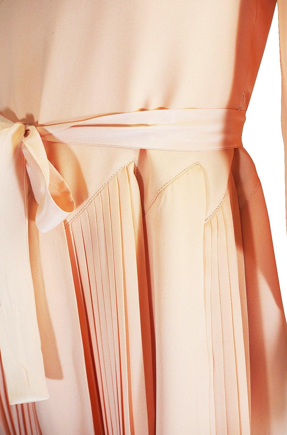 A w 1973 christian dior haute couture silk day dress for for Dior haute couture dress price