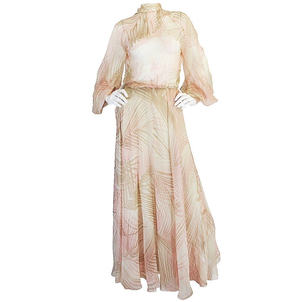 S s 1974 christian dior haute couture silk gown for sale for Dior couture dress price
