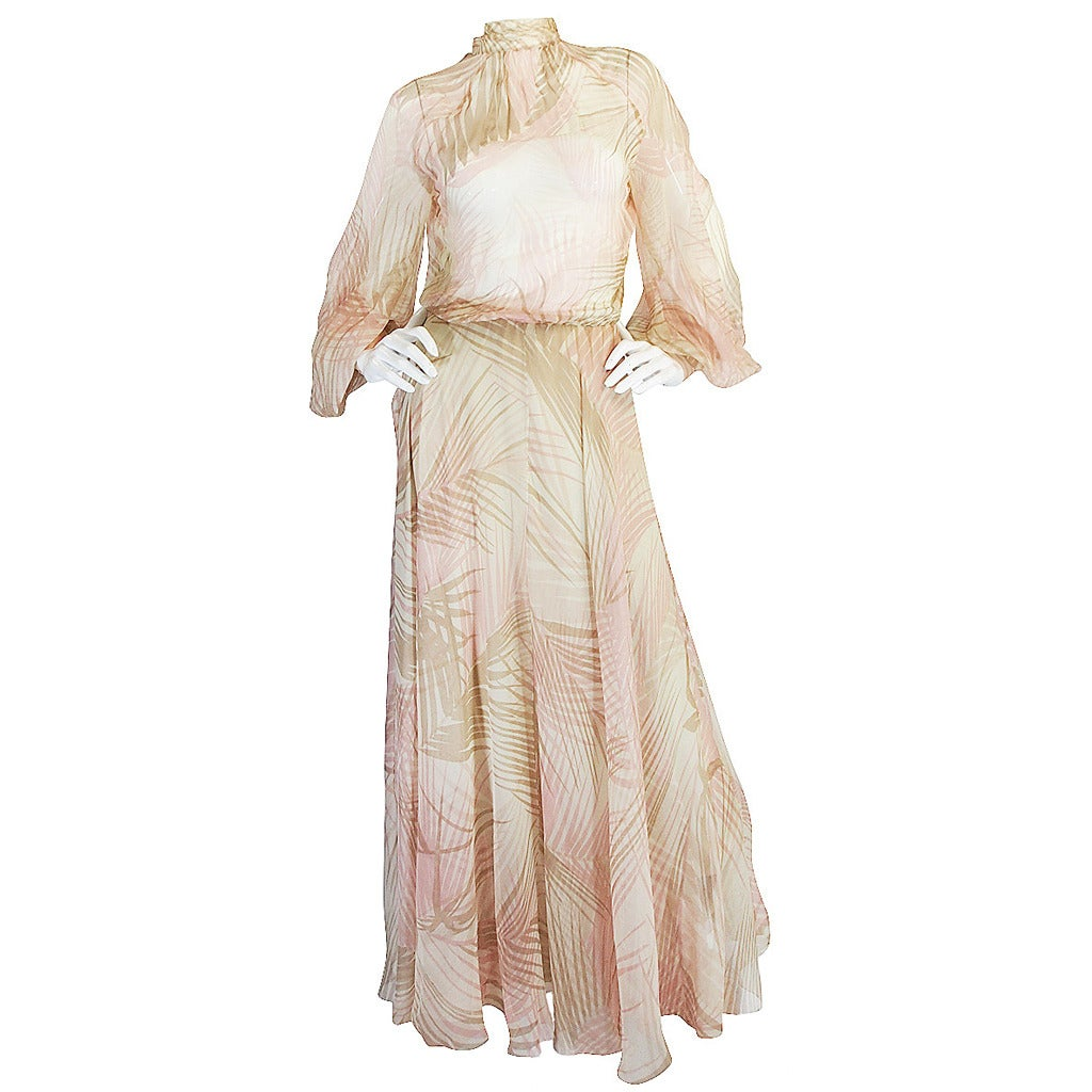 S s 1974 christian dior haute couture silk gown at 1stdibs for Fashion couture clothing