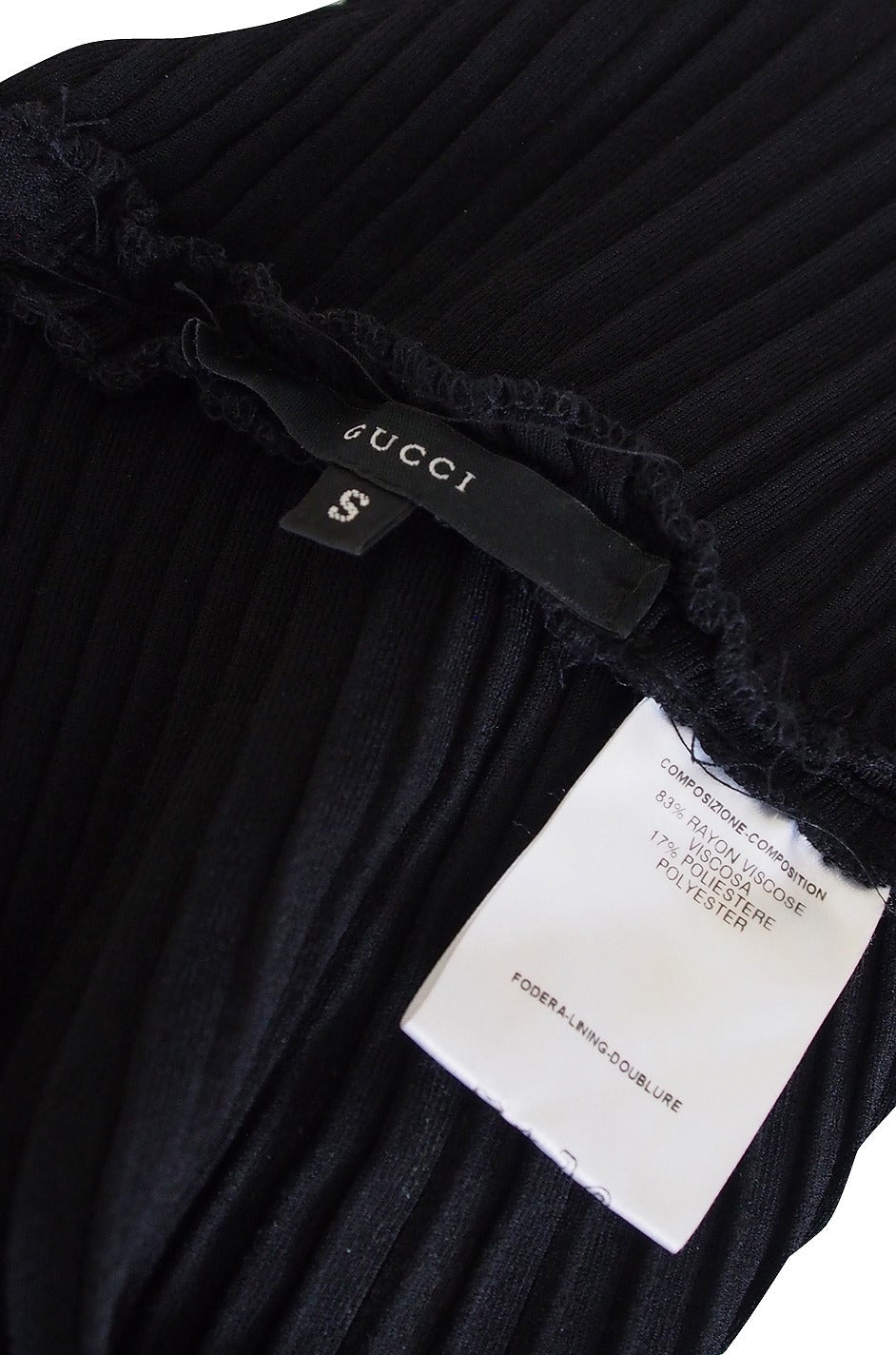 circa 1996 Tom Ford for Gucci Black Halter Knit Top 6