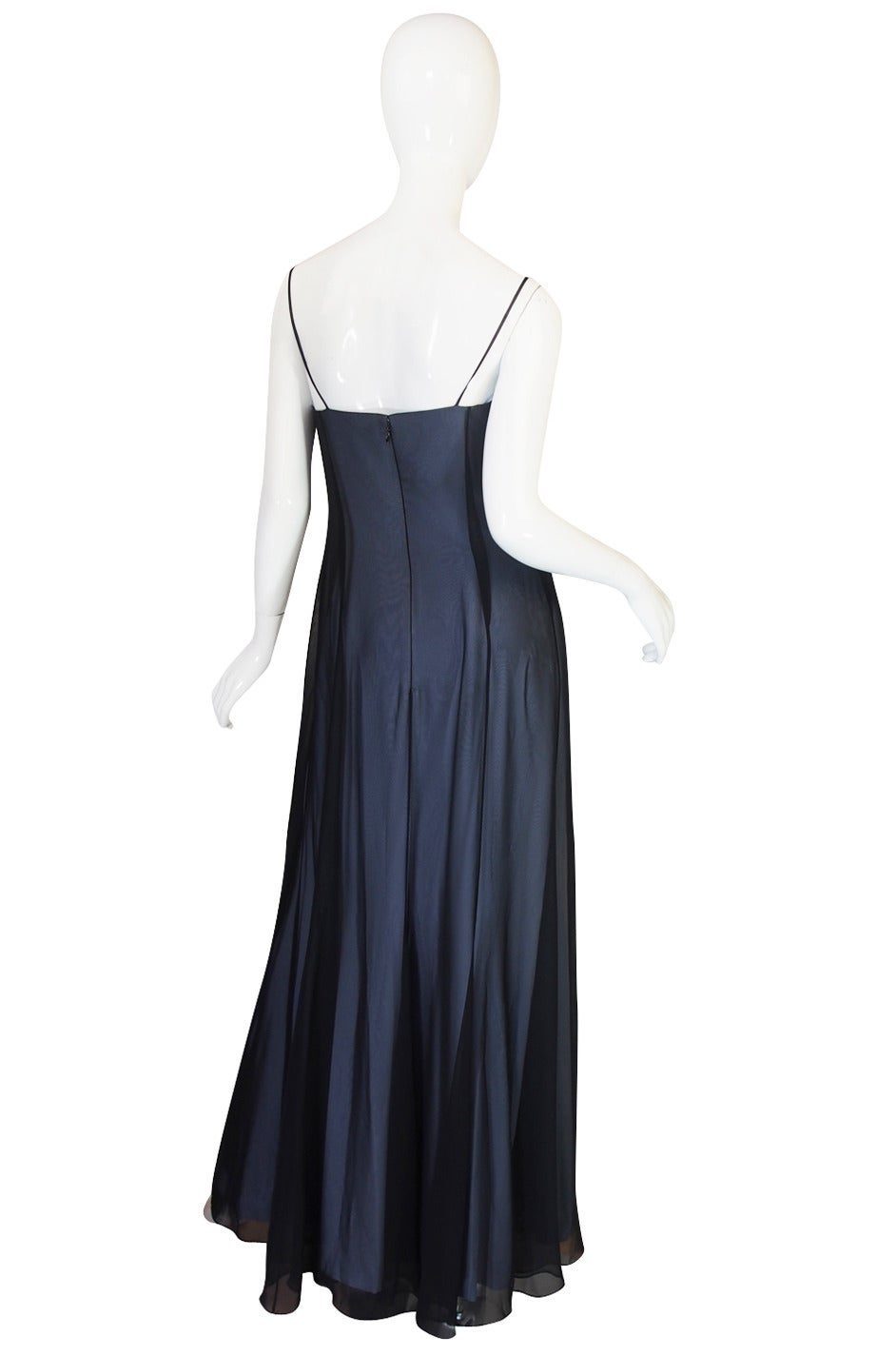 1990s Sheer Silk Chiffon Thierry Mugler Dress 2
