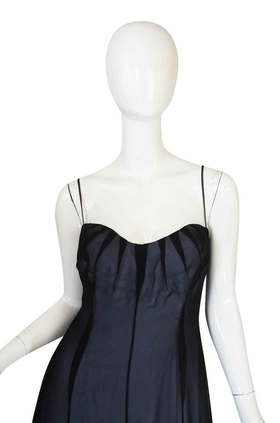 1990s Thierry Mugler Sheer Silk Chiffon Dress 5
