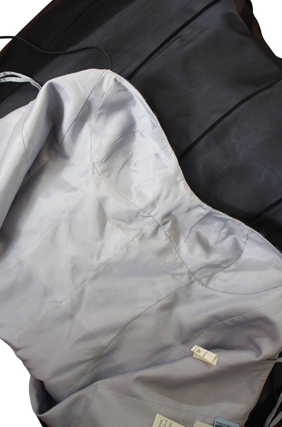 1990s Sheer Silk Chiffon Thierry Mugler Dress 8