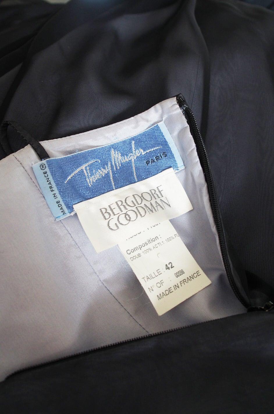 1990s Sheer Silk Chiffon Thierry Mugler Dress 9