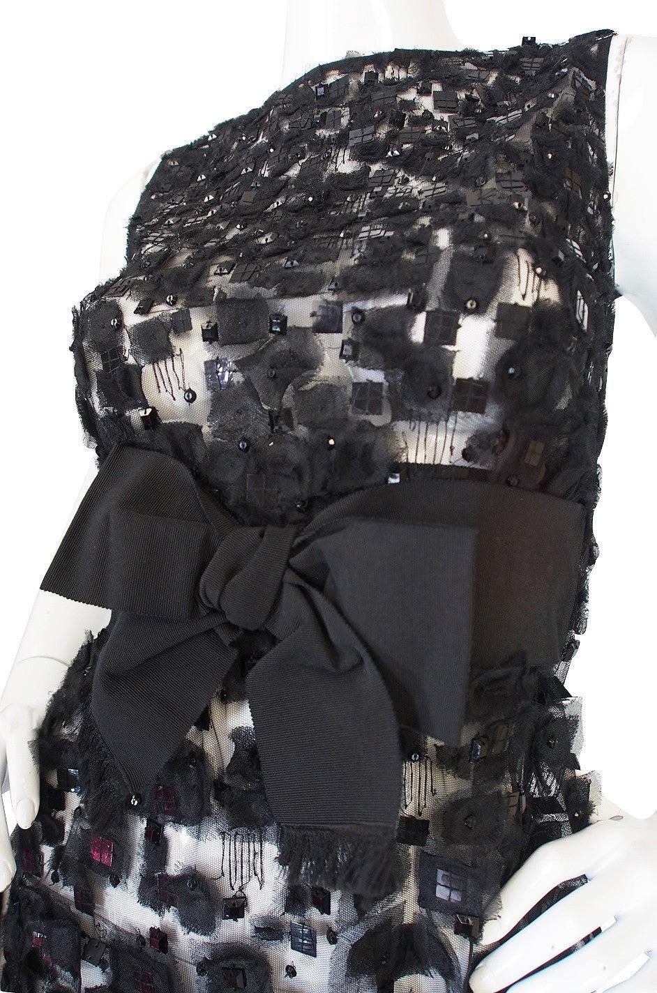 Women's 2009 Resort Lace Watteau Oscar De La Renta Dress For Sale