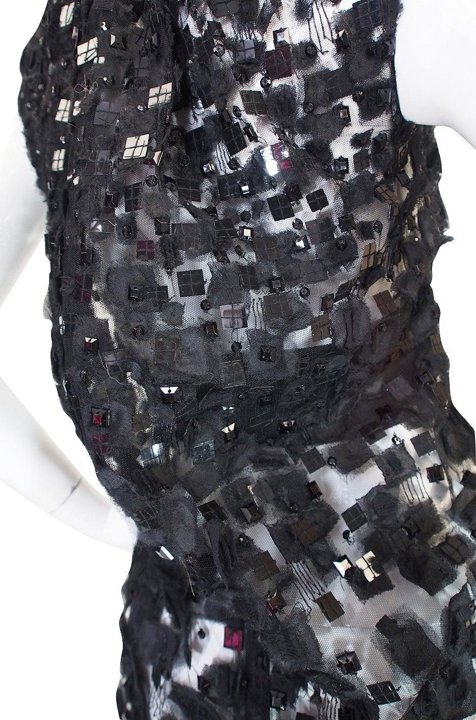 2009 Resort Lace Watteau Oscar De La Renta Dress For Sale 2