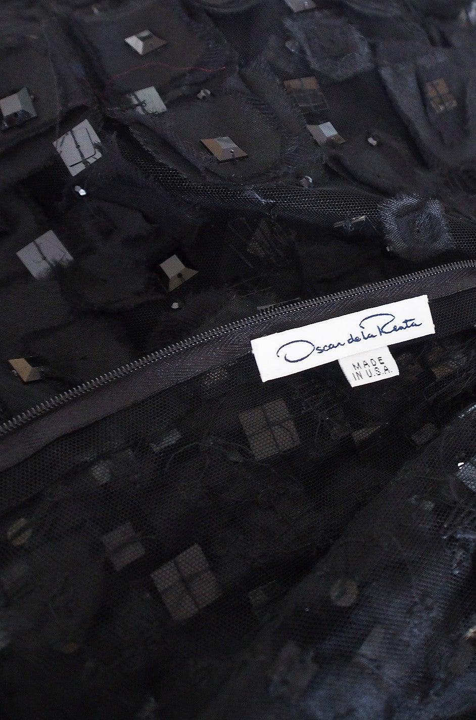 2009 Resort Lace Watteau Oscar De La Renta Dress For Sale 1