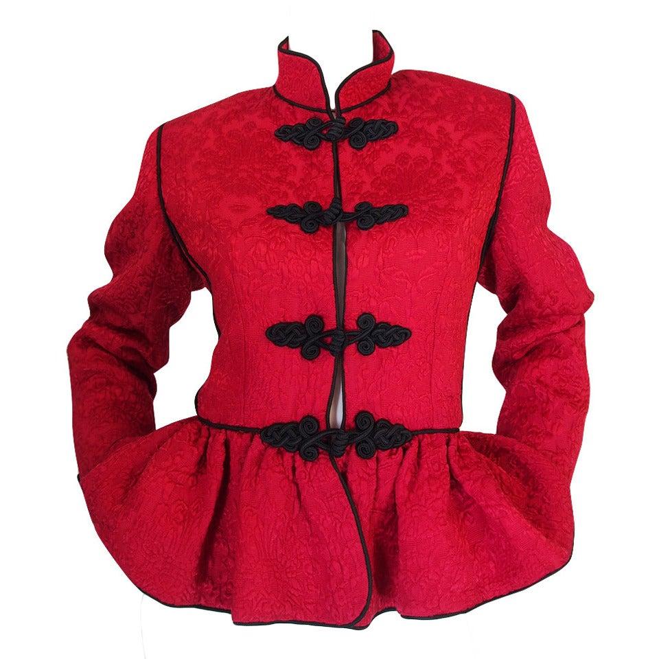 c1977-78 Yves Saint Laurent Chinoiserie Jacket 1