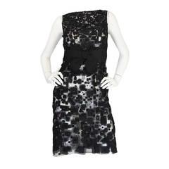 2009 Resort Lace Watteau Oscar De La Renta Dress