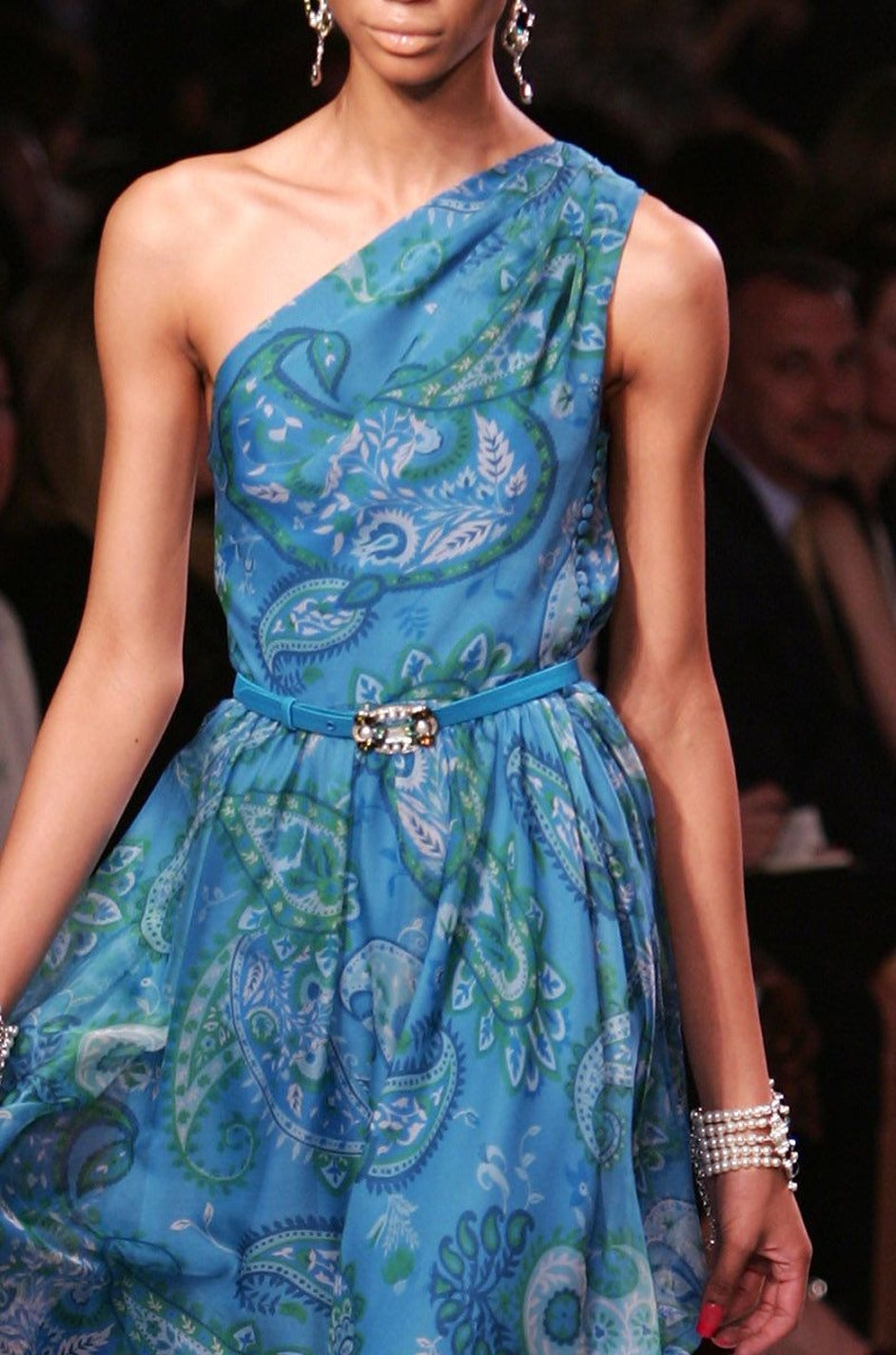Cruise 2008 Galliano for Christian Dior Blue Silk Dress 9