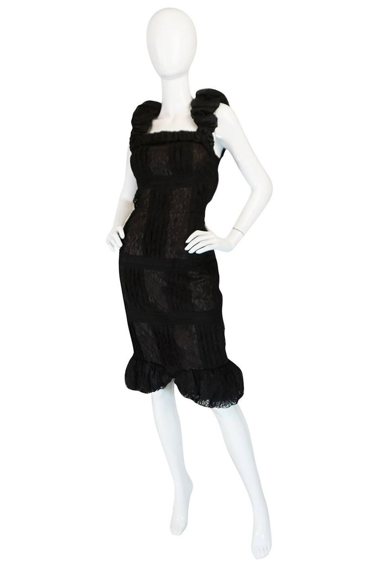 Chanel Resort Runway Elaborate Black Lace Dress, 2009  In Excellent Condition For Sale In Toronto, ON