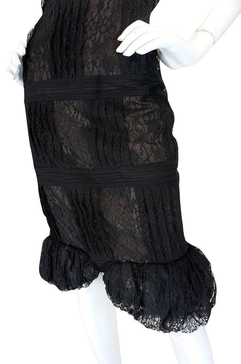 Chanel Resort Runway Elaborate Black Lace Dress, 2009  For Sale 3