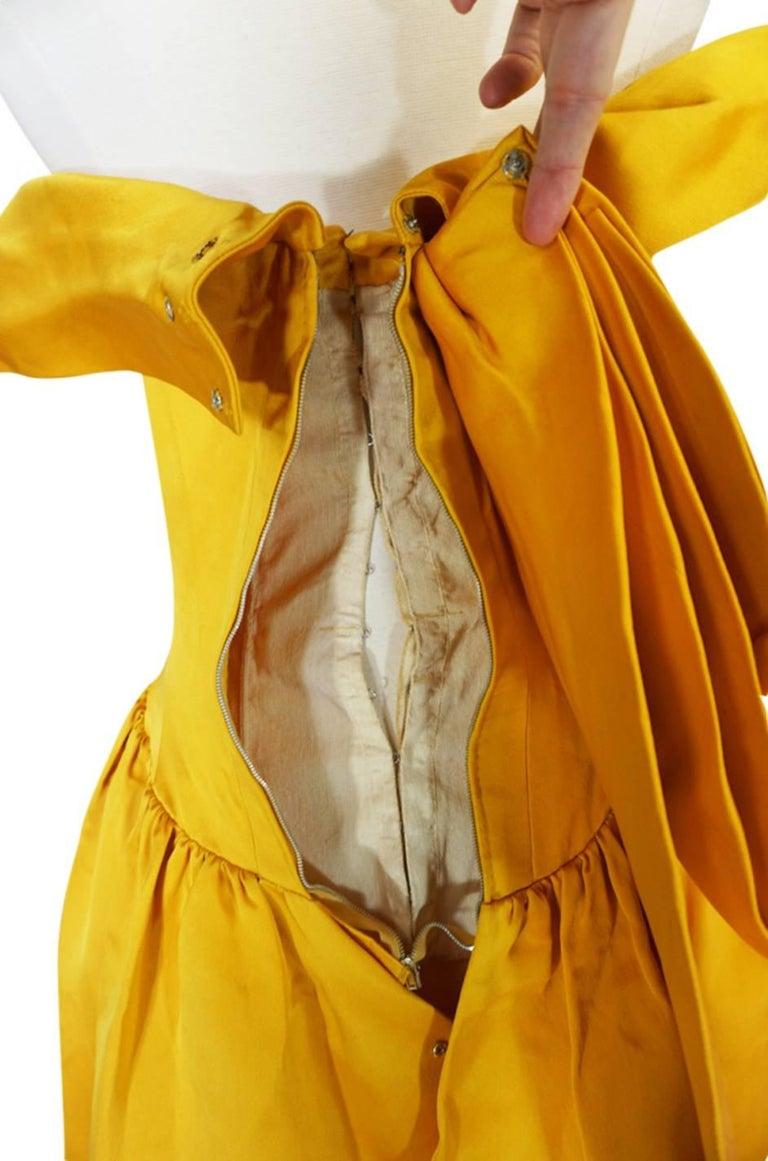 Women's Balenciaga Haute Couture Book Piece Silk Sculpted Gown, 1962  For Sale