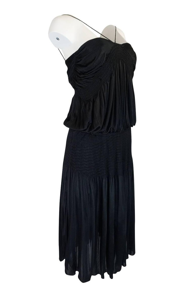 Look 42 S/S 2004 Chloe By Phoebe Philo Black Runway Dress In Excellent Condition For Sale In Rockwood, ON