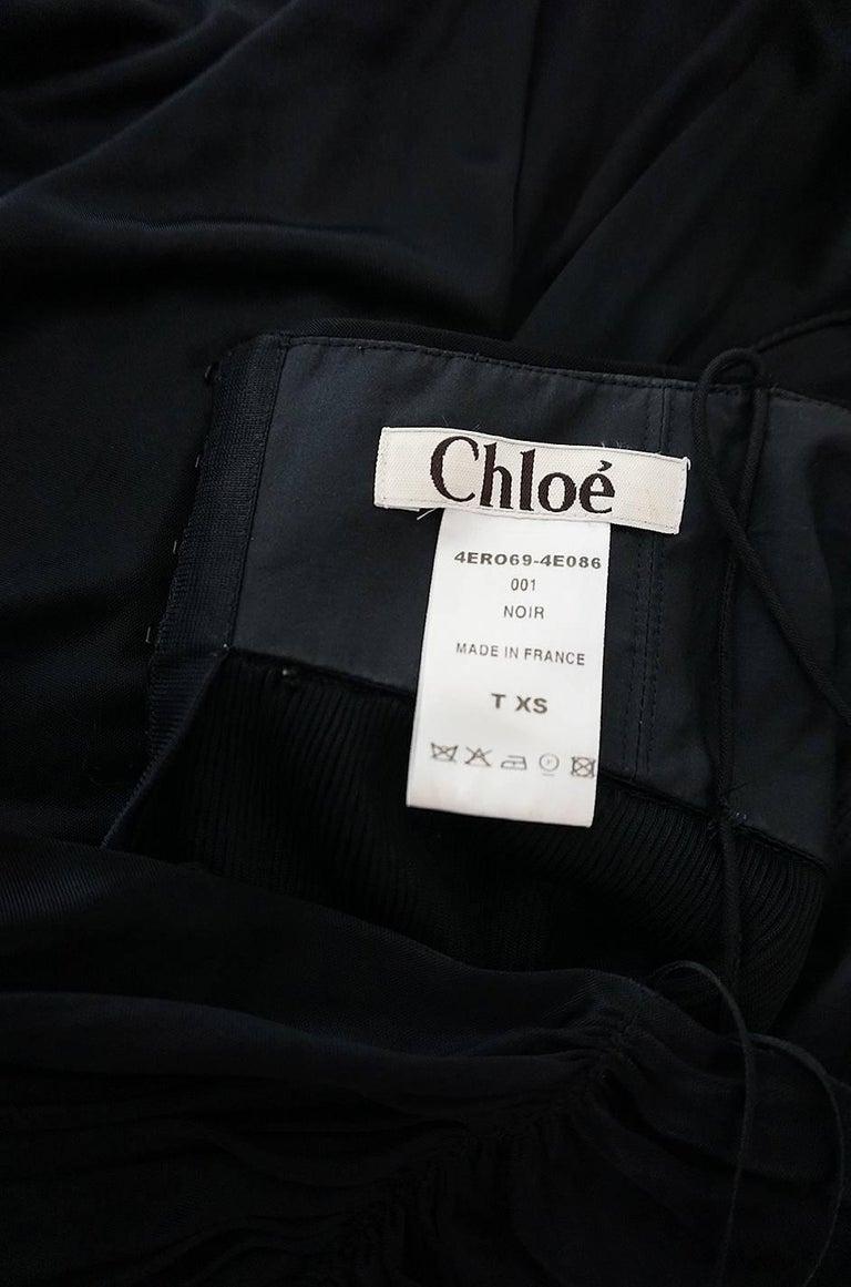 Look 42 S/S 2004 Chloe By Phoebe Philo Black Runway Dress For Sale 5