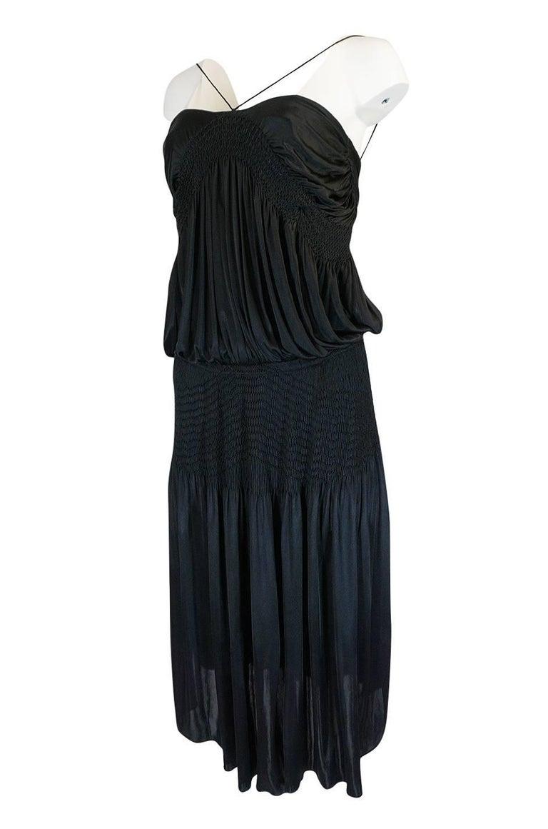 Women's Look 42 S/S 2004 Chloe By Phoebe Philo Black Runway Dress For Sale