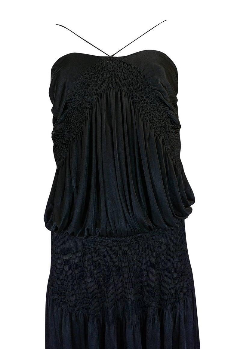 Look 42 S/S 2004 Chloe By Phoebe Philo Black Runway Dress For Sale 2