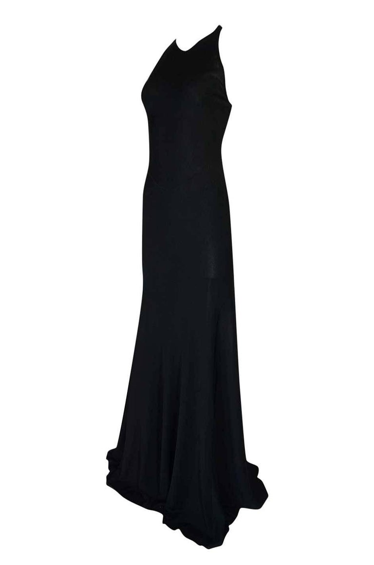 Black Documented F/W 2001 Azzedine Alaia Couture Runway Dress For Sale
