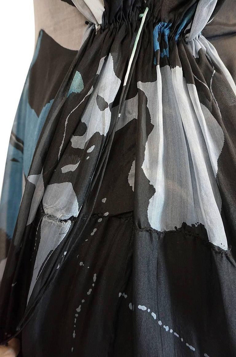 S/S 2007 Christian Lacroix Blue Strapless Dress & Shawl w Applique For Sale 2