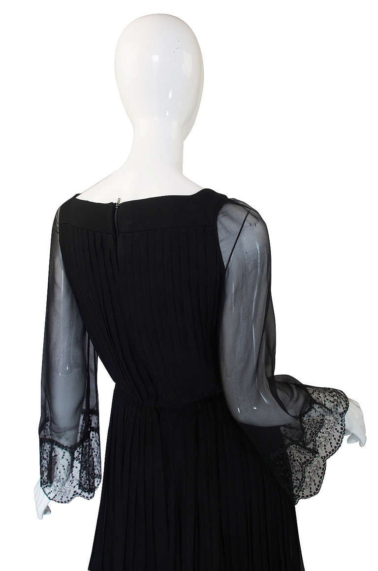Women's Rare 1960s Silk and Lace Jean Louis Dress For Sale