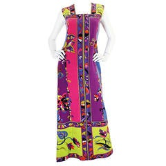 Gorgeous 1960s Vivid Velvet Pucci Front Zipper Dress