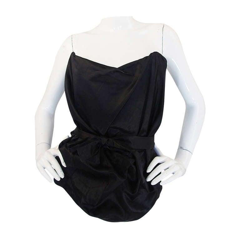 1990s Vivienne Westwood Gold Label Black Silk Corset Top 1