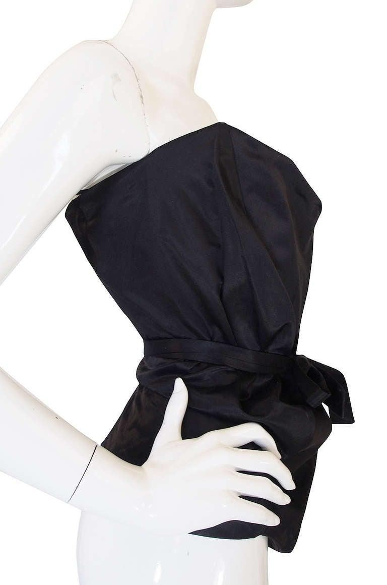 1990s Vivienne Westwood Gold Label Black Silk Corset Top 5