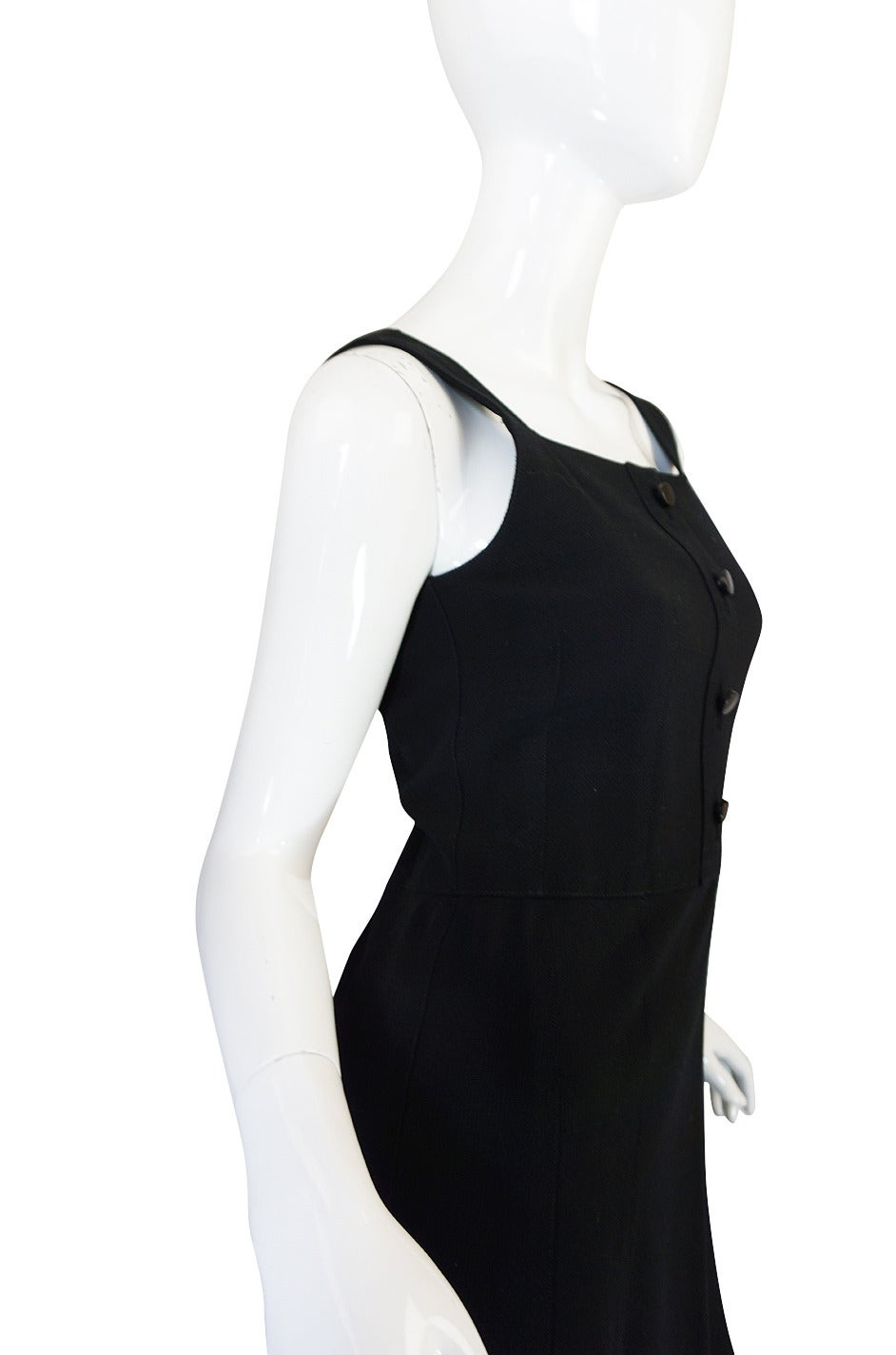 1960s Courreges HyperBole Twirling Skirt Sleeveless Dress In Excellent Condition For Sale In Toronto, ON