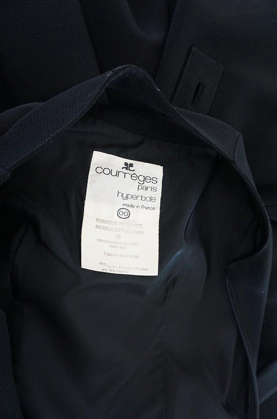 1960s Courreges HyperBole Twirling Skirt Sleeveless Dress For Sale 1