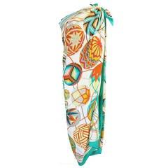 Recent Huge 140cm Cashmere & Silk Hermes Scarf