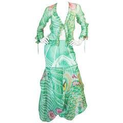 Fall 2003 Runway Galliano for Christian Dior Silk Top & Skirt