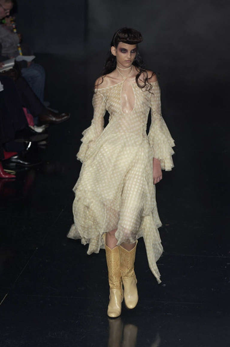 """S/S 2002 Alexander McQueen """"Dance of the Twisted Bull"""" Dress 10"""