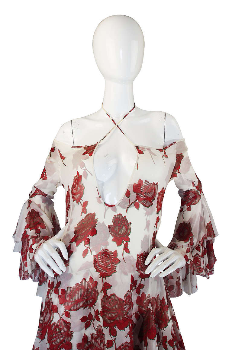 """Brown S/S 2002 Alexander McQueen """"Dance of the Twisted Bull"""" Dress For Sale"""