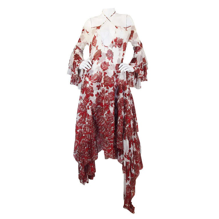 """S/S 2002 Alexander McQueen """"Dance of the Twisted Bull"""" Dress 1"""