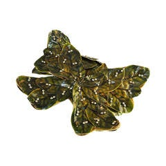 1940s Rare Bes-Ben Butterfly & Leaf Cloche Hat