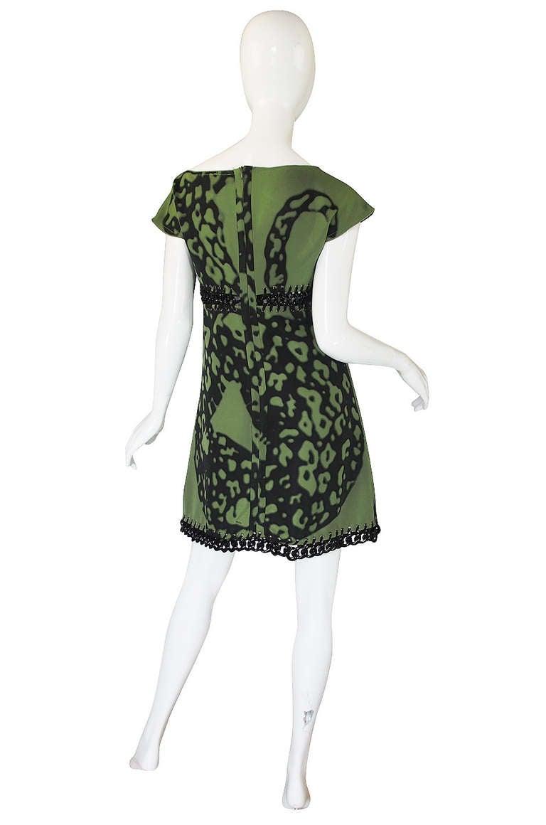 Resort 2009 Prada Shift Dress With Chain Insets 2