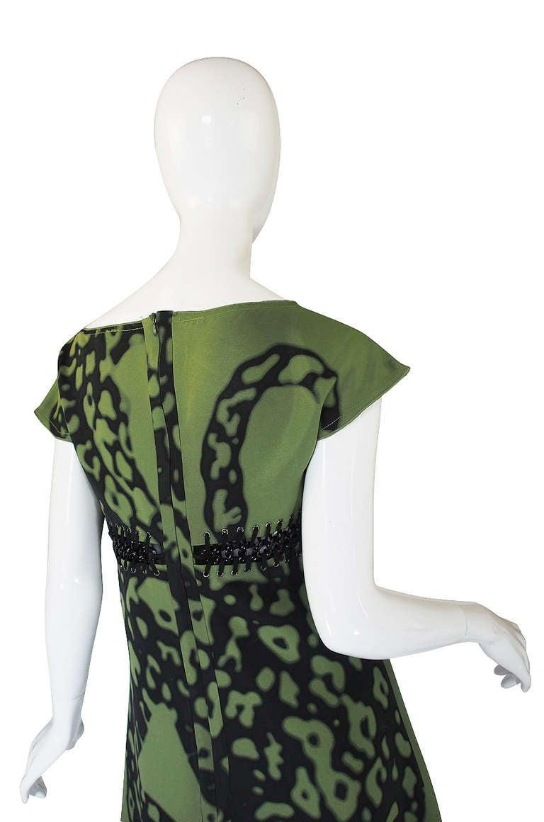 Resort 2009 Prada Shift Dress With Chain Insets 5
