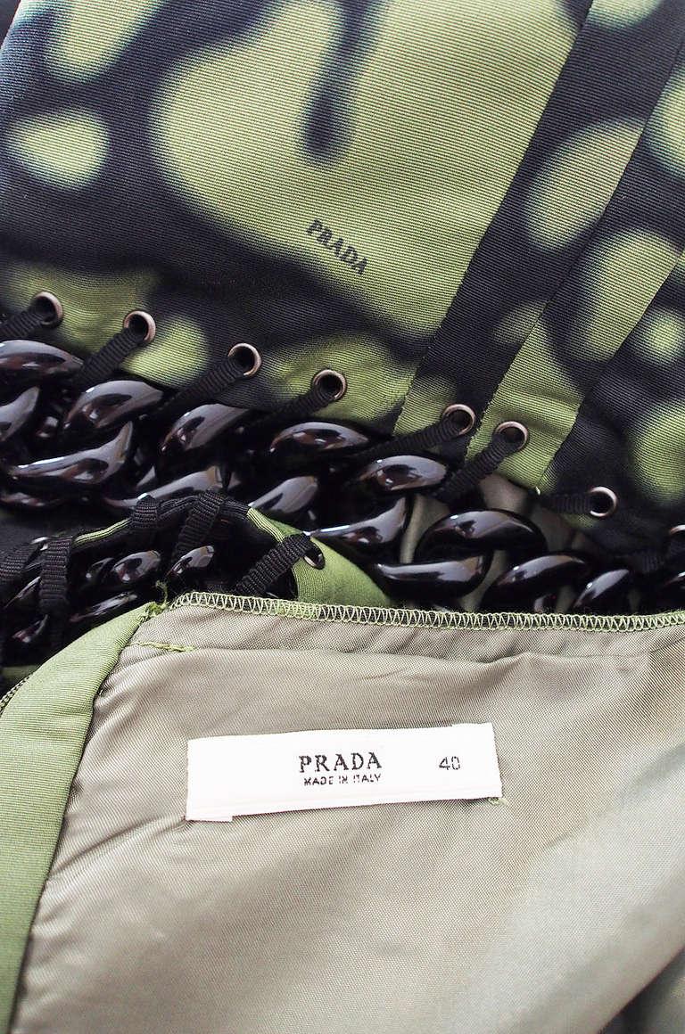 Resort 2009 Prada Shift Dress With Chain Insets 8