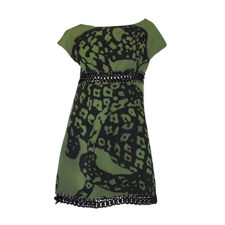 Resort 2009 Prada Shift Dress With Chain Insets 1