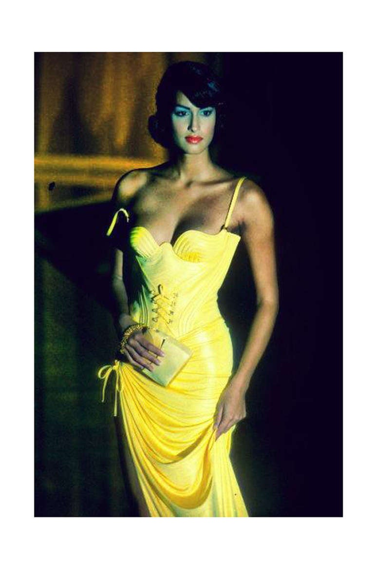S S 1995 Runway Gianna Versace Couture Corset And Skirt At