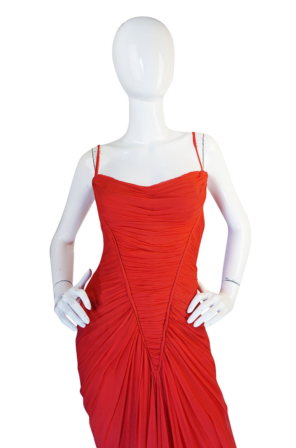C1959 haute couture maggy rouf red draped gown for sale at for Haute couture sale