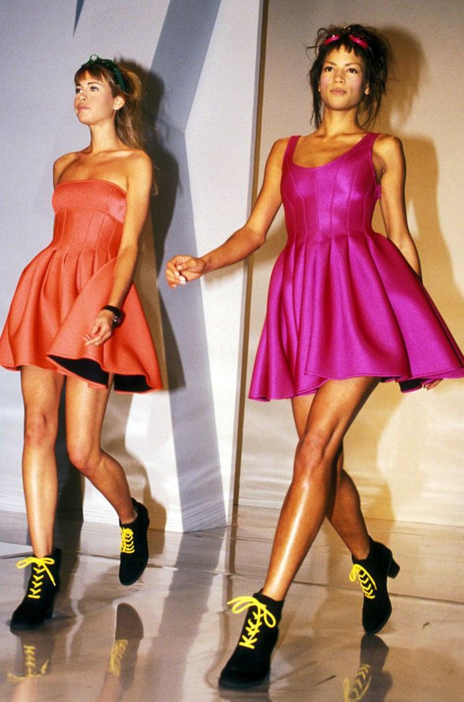 F/W 1994 Donna Karan Museum Held Neoprene Mini Dress 8