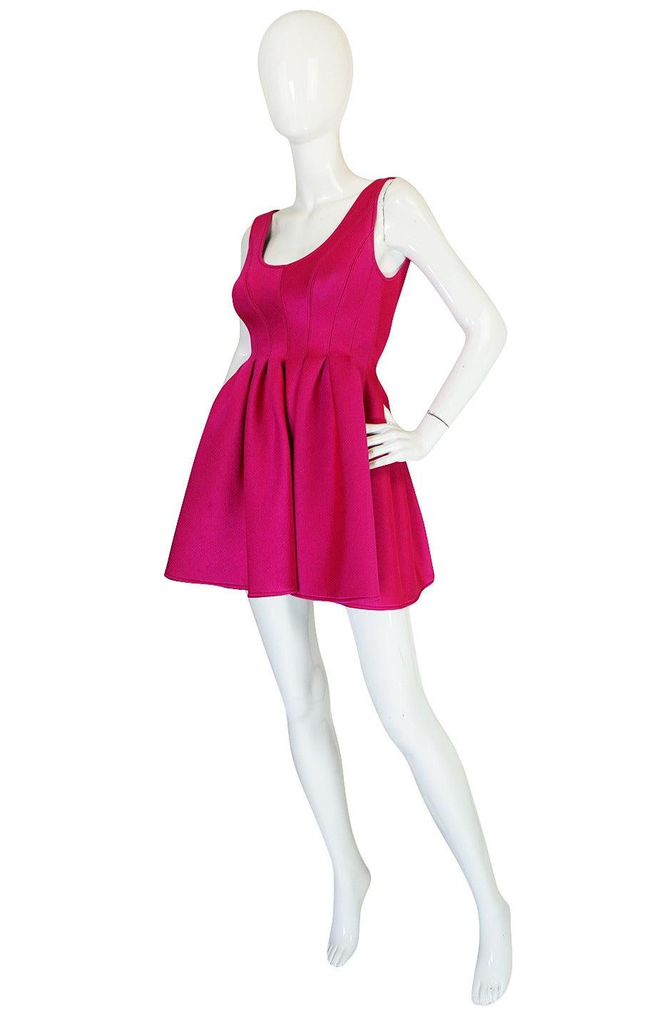 F/W 1994 Donna Karan Museum Held Neoprene Mini Dress 10