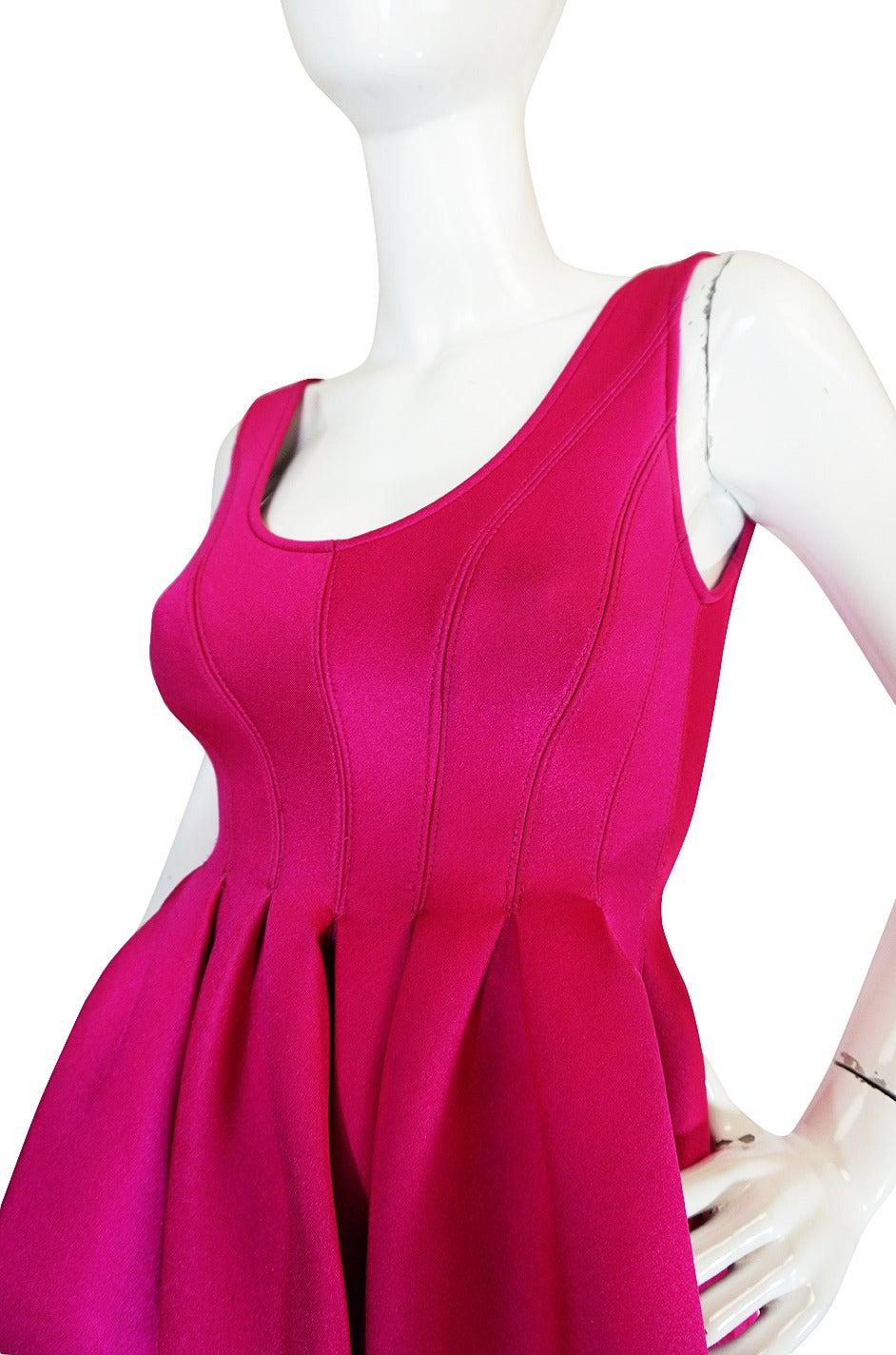 F/W 1994 Donna Karan Museum Held Neoprene Mini Dress 5