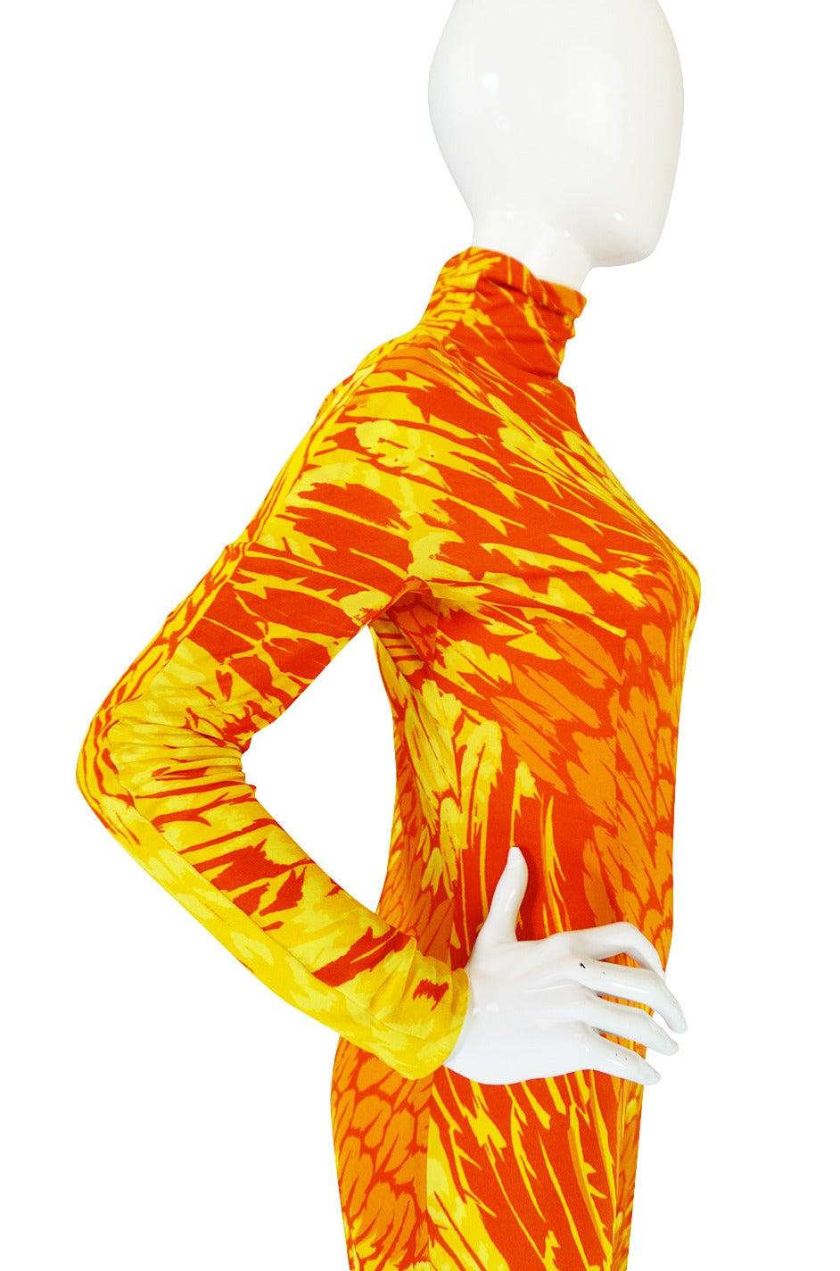1970s La Mendola Silk Jersey Jumpsuit & Silk Chiffon Overlay 9