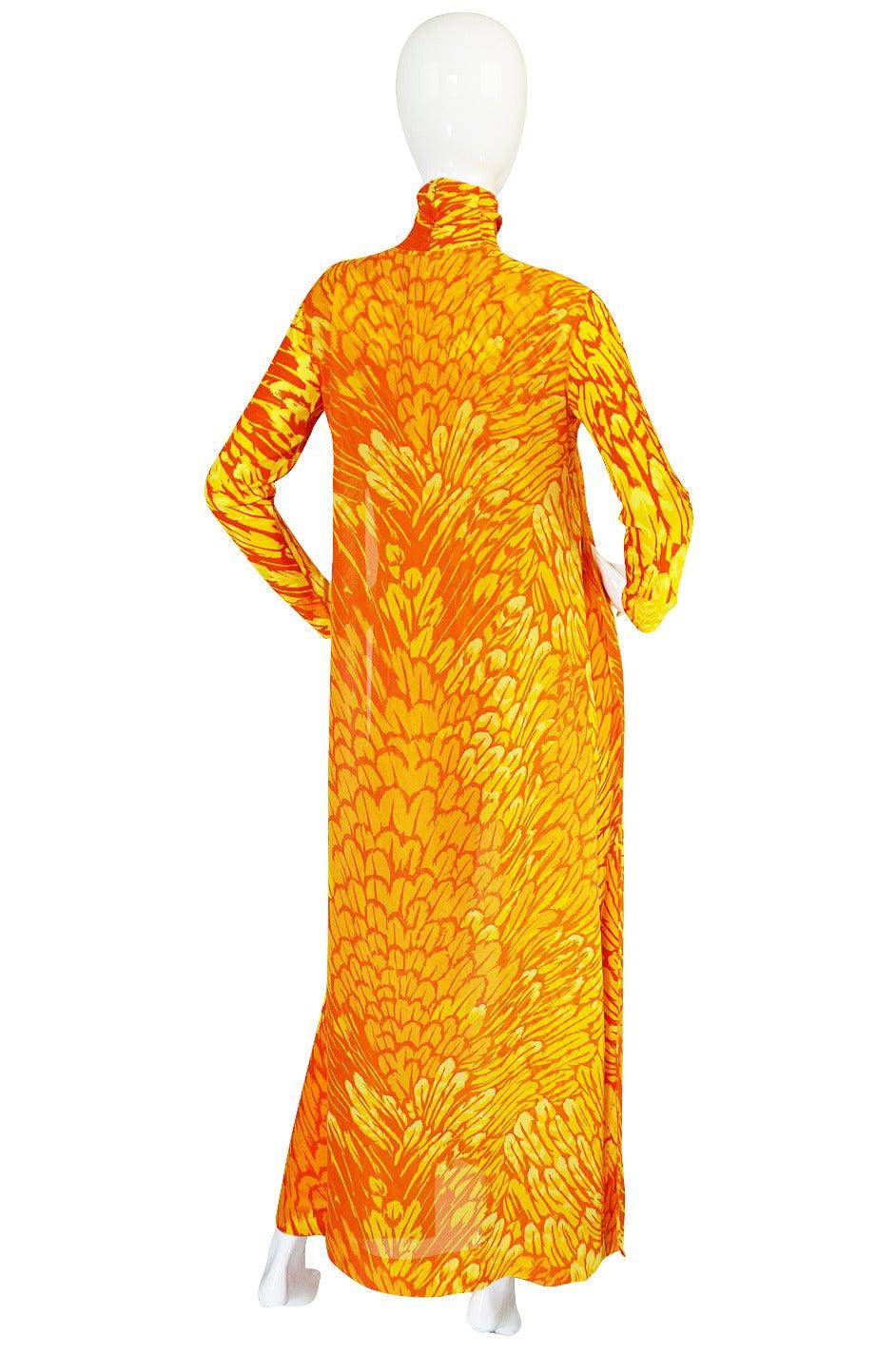1970s La Mendola Silk Jersey Jumpsuit & Silk Chiffon Overlay 5