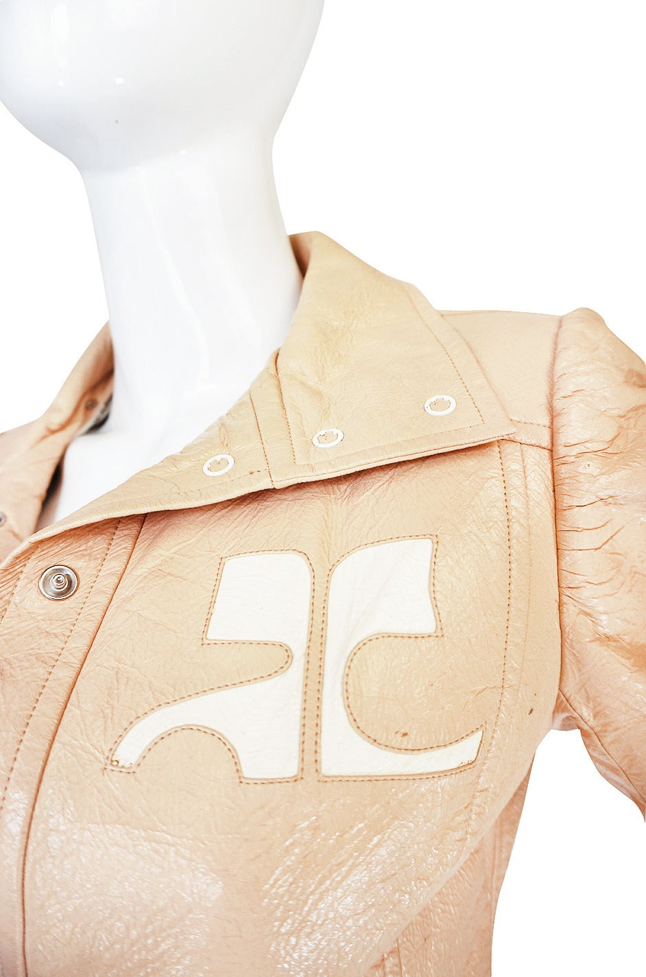Rare Original 1960s Nude Color Courreges Jacket 5